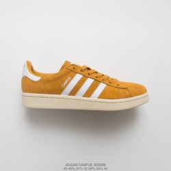 Bz0088 mens adidas originals campus 80s campus all-match Skate Shoes OG Yellow Off-White