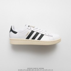Bz0096 UNISEX Adidas Originals Campus 80s Campus All-match Skate Shoes OG Off-White black stan smith