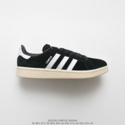 Bz0084 UNISEX Adidas Originals Campus 80s Campus All-match Skate Shoes OG Black Off-White