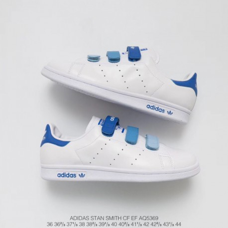 New Sale Aq5369 Upper Adidas Smith Velcro Gradient Blue Adidas Stan Smith  Cf Ef Upper Velcro 048fc0b40f71