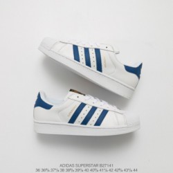Superstar-Adidas-White-Blue-Adidas-Superstar-White-Blue-B27141-Upper-Adidas-Shell-Head-White-Blue-Stan-Smith-Classic-Look