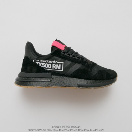 Bb7443 UNISEX Ultra Boost Deadstock Adidas ZX500 Rm Boost OG ZX500 Ultra Boost All-match Vintage Jogging Shoes Black Powder Pla