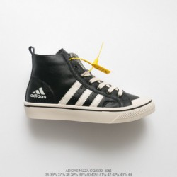 Cq2332 winter cotton-wool Blend UNISEX Adidas Nizza High Campus Fashion Skate Shoes