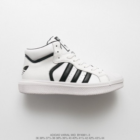By4061 FSR UNISEX Adidas VARIAL MID High Leather Upper Casual Skate Shoes