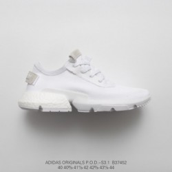 B37452 Deadstock Adidas Originals POD-S3.1 Boost Deadstock Ultra Boost Dash Sneaker Whole White Gray Adidas POD-S3.1 The Most A
