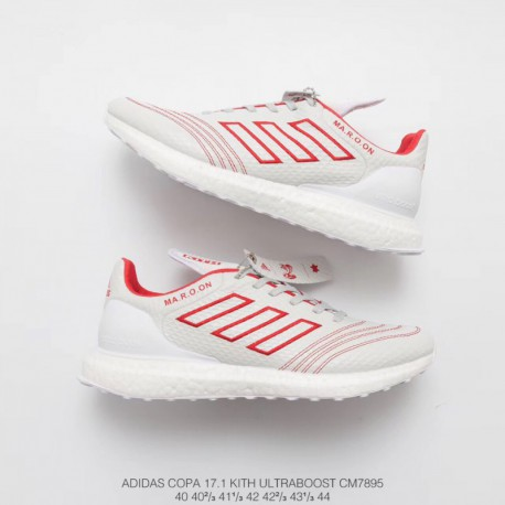 9e4077e5ec00c New Sale Adidas KITH X Adidas Copa Mundial 17 Ultra Boost White Red Ultra  Boost Fall Upper Racing