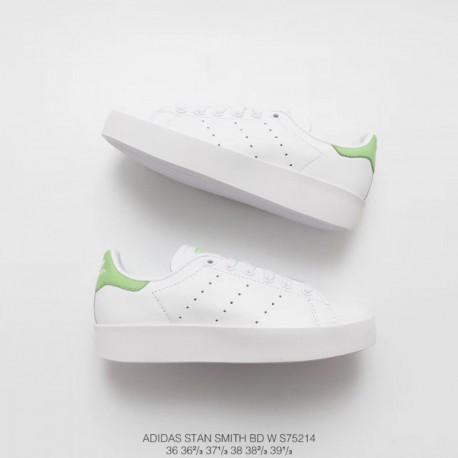 premium selection b291d 0825b Adidas Stan Smith Premium Leather,Adidas Stan Smith Leather Shoes,S75214  adidas STAN SMITH BOLD W Smith Thick Open-Toes Shoes P