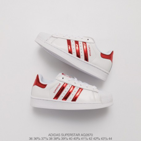 the best attitude a885b ca6fd Adidas Superstar White Red Stripes,Adidas Superstar Foundation White  Red,AQ2870 Upper Adidas Shell Head White Red Glossy Classi