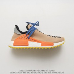 AC7361 Limited Edition Crossover Colorway Adidas Original Pw Human Race NMD Pharrell Williams Crossover Khaki Orange Blue Shoes