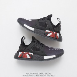 By9949 NMD Crossover Kaws X Adidas NMD XR-1Boost Collection Jogging Shoes XX Interstellar Black