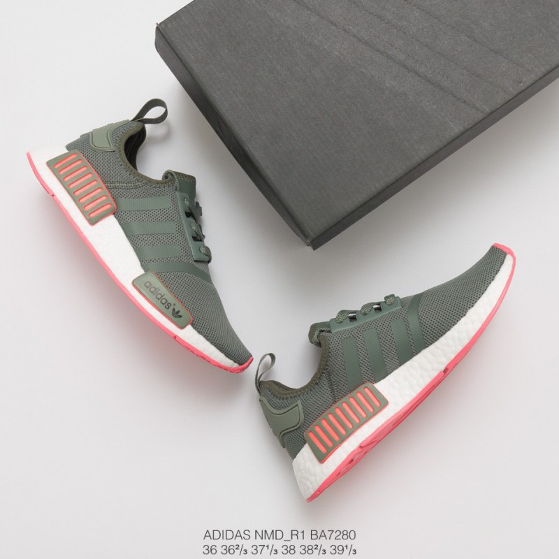 Adidas Originals Nmd R1 Green,Adidas Nmd R1 Peach Pink,BA7280 Ultra Boost Collection Adidas NMD R1 Womens Adidas Originals NMD