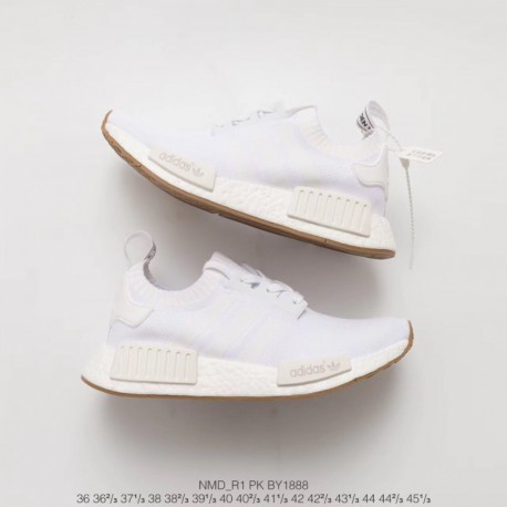 designer fashion 1d36d 9ca61 Adidas Nmd R1 Primeknit Gum Pack By1888,Adidas Nmd R1 White,BY1888 Original  NMD Whole white Company Original BASF OUTSOLE