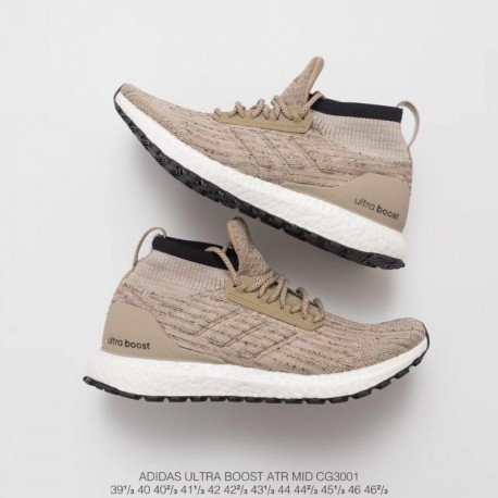 the best attitude c8a63 e4a17 Adidas Ultra Boost Atr Mid Grey,Adidas Ultra Boost Mid Atr Khaki,CG3001  adidas Ultra BOOST ATR Mid Collar is the most eye-catch