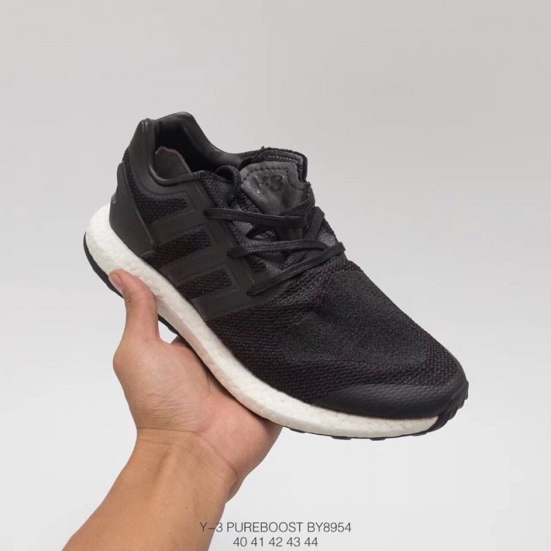 3cdfc343c1306 ... By8954 2017 division adidas y-3 pure knit boost black Navy black and  white ...